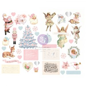 Christmas Sparkle Collection Chipboard Stickers - 37 pcs w/ foil detail