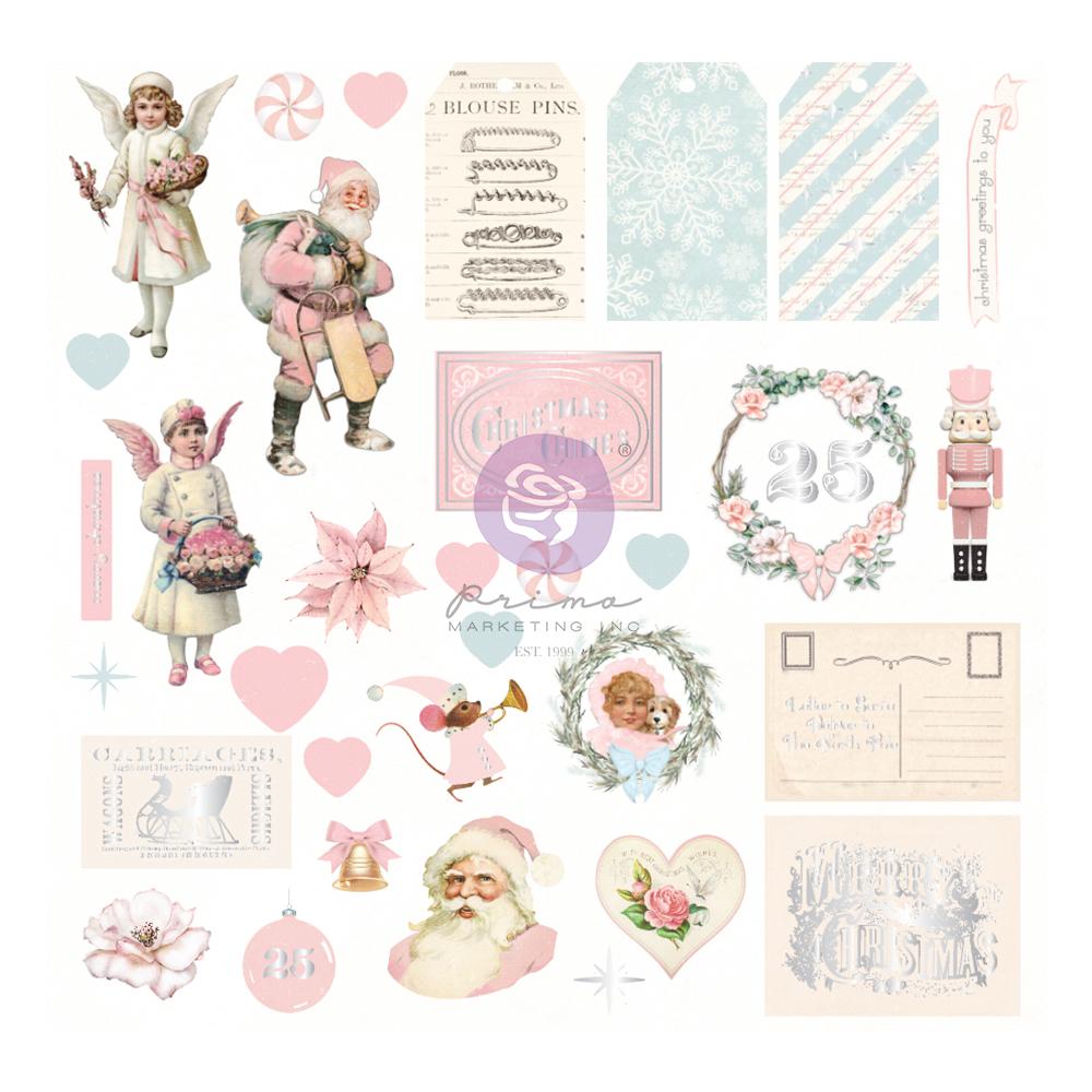 Christmas Sparkle Collection Ephemera - 33 pcs w/ foil detail