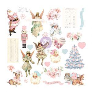 Christmas Sparkle Collection Ephemera - 28 pcs w/ foil detail