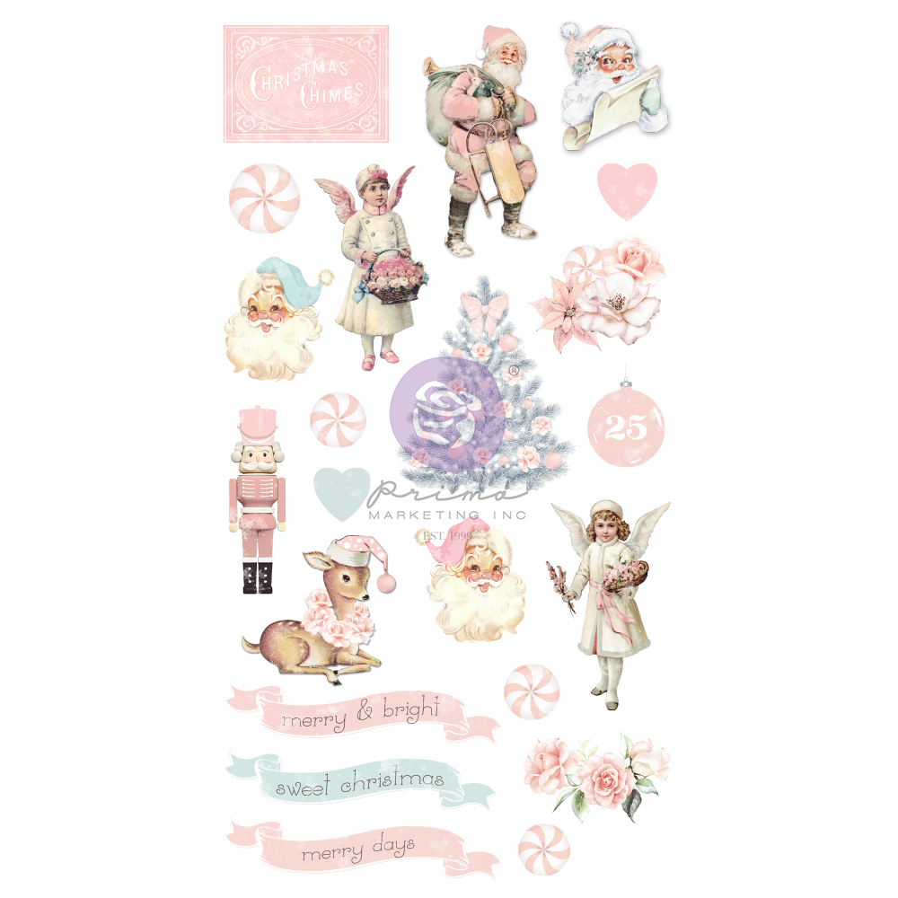 Christmas Sparkle Collection Puffy Stickers - 22 pcs