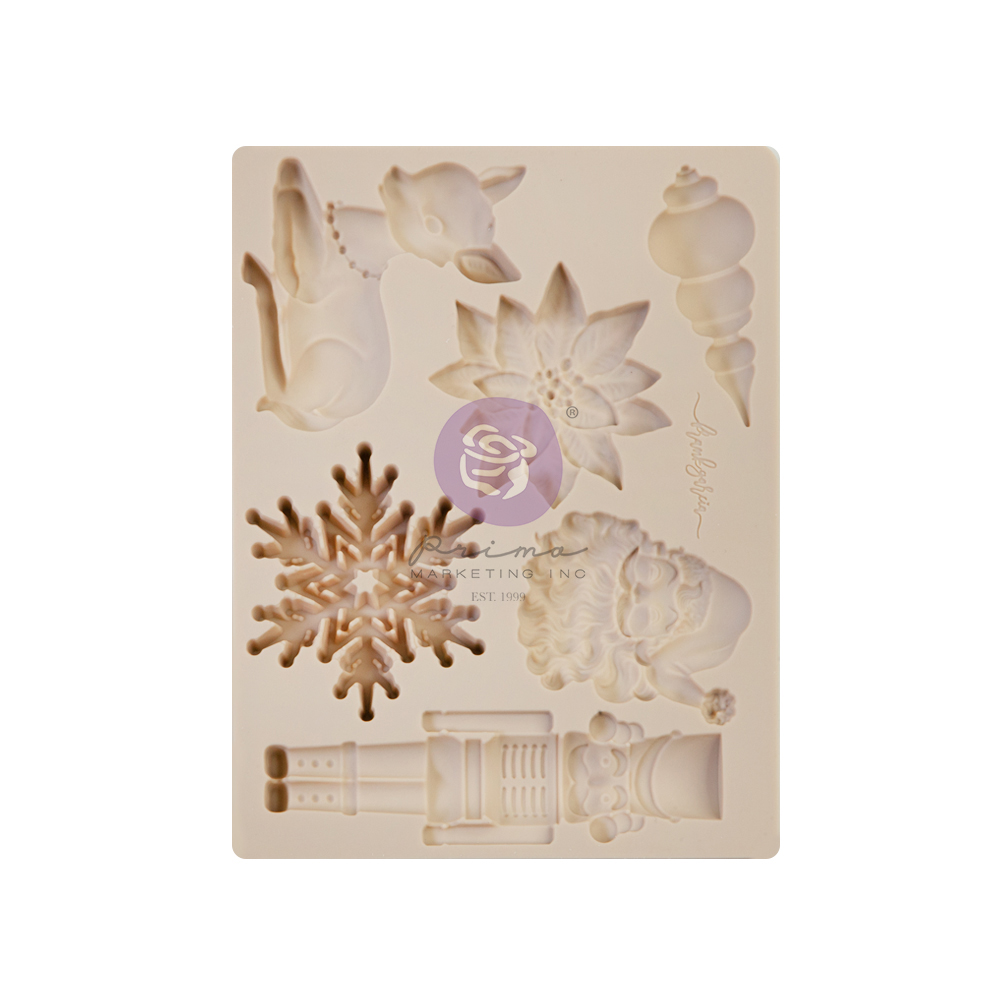 """Christmas Sparkle Collection Silicone Mould - 1 pc, 3.5""""x4.5""""x8mm"""