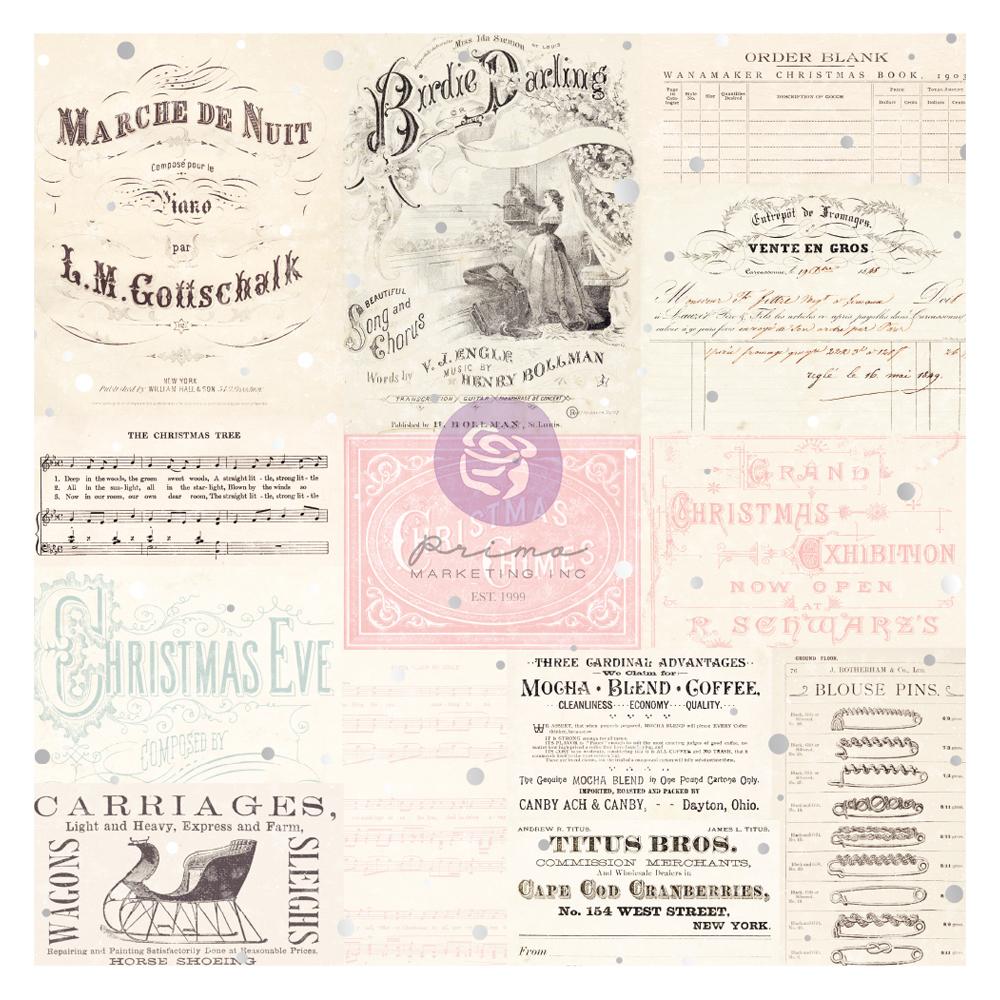 """Christmas Sparkle Collection Vellum Paper - 1 sheet, 12""""x12"""" w/ foil detail"""