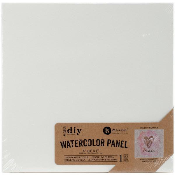 "Watercolor Panel 8""x8"""