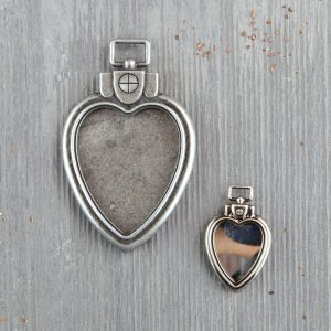 Mechanicals: Heart Locket Pendants - 2 pcs