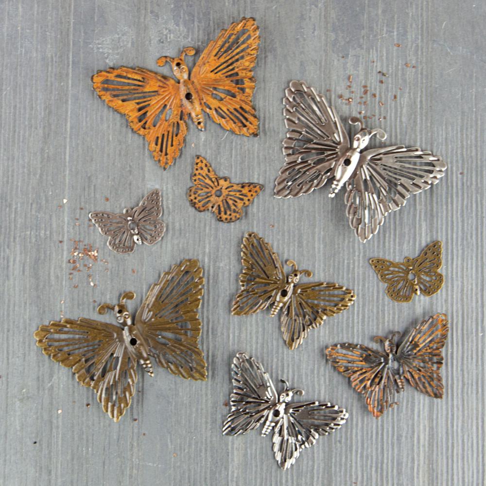 Mechanicals: Grungy Butterflies - 9 pcs